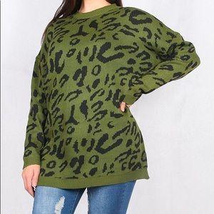Leopard sweater XXL